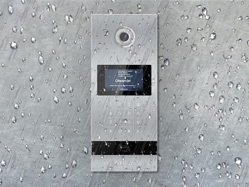 Wideodomofon IP Greon odporny na deszcz