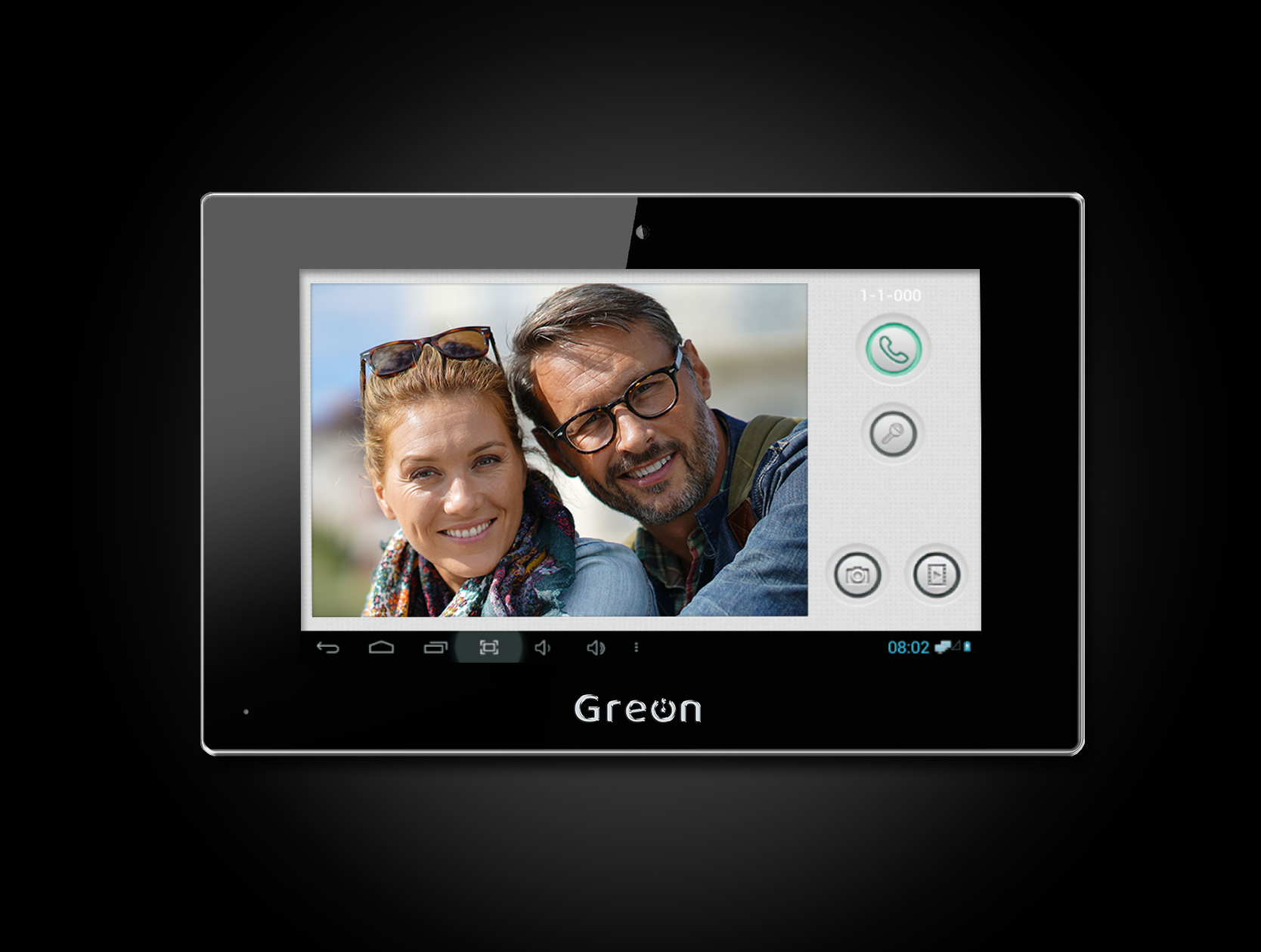 Wideodomofon IP Greon z zapisem filmów i zdjęć