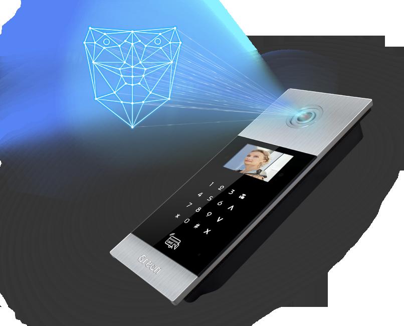Wideodomofon IP Greon rozpoznawanie twarzy Otwieranie drzwi bez kodu i klucza