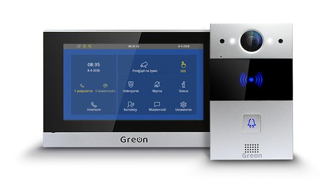 Zestaw wideodomofonowy IP GR-OS6 + GR-IS4-SL