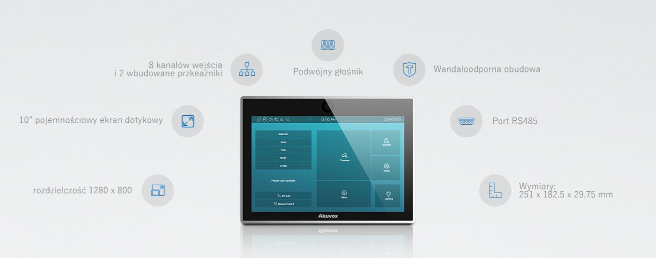 Monitor wideodomofonu IP Akuvox IT83