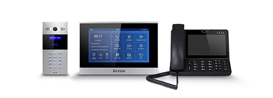 Wideodomofon IP GR‑OS5 Wideodomofon IP GR‑IS4 Centrala portierska GR‑GS2