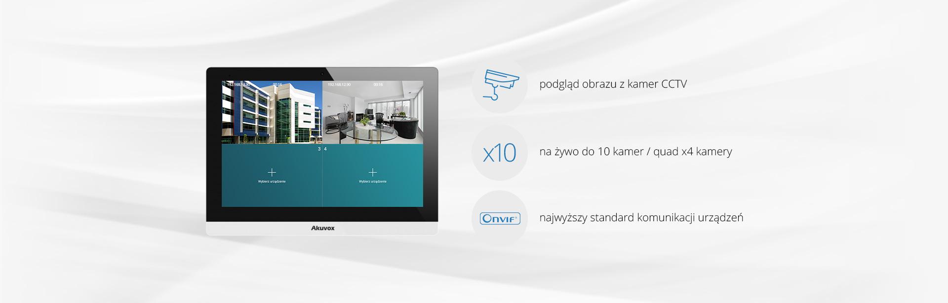 Monitor wideodomofonu IP Akuvox C317