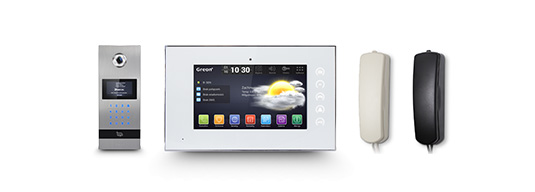 Wideodomofon IP GR‑OS2 Wideodomofon IP GR‑IS1-WA Słuchawka GR‑ISA1