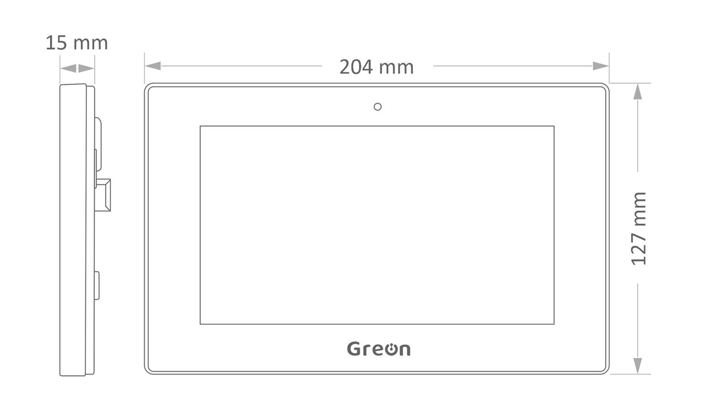 Panel Greon IP GR-IS4 wymiary