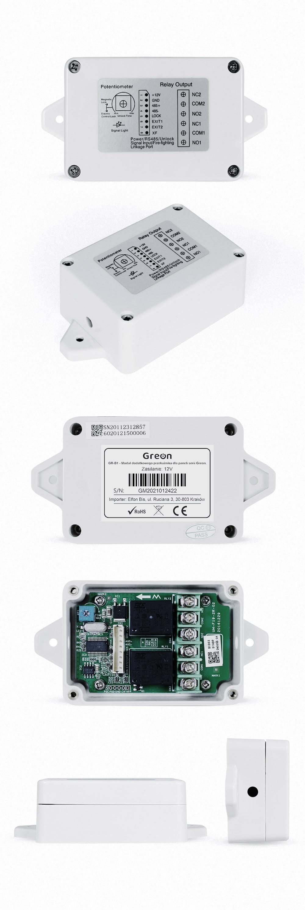 GR-B1 Moduł dodatkowego przekaźnika dla paneli serii Greon